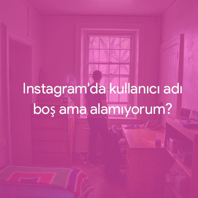 instagram kullanıcı adını alamıyorum